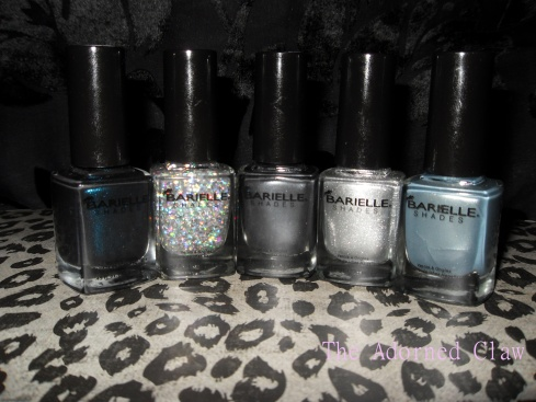 Barielle Shades. Blackened Bleu, Starchild, Coalest Day Of The Year, Night Moves and Out-Grey-Geous