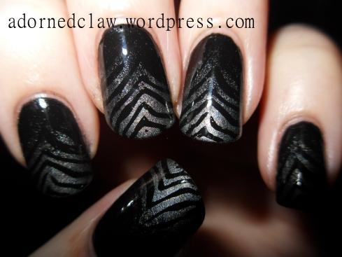 Gradient Zebra Nail Art!