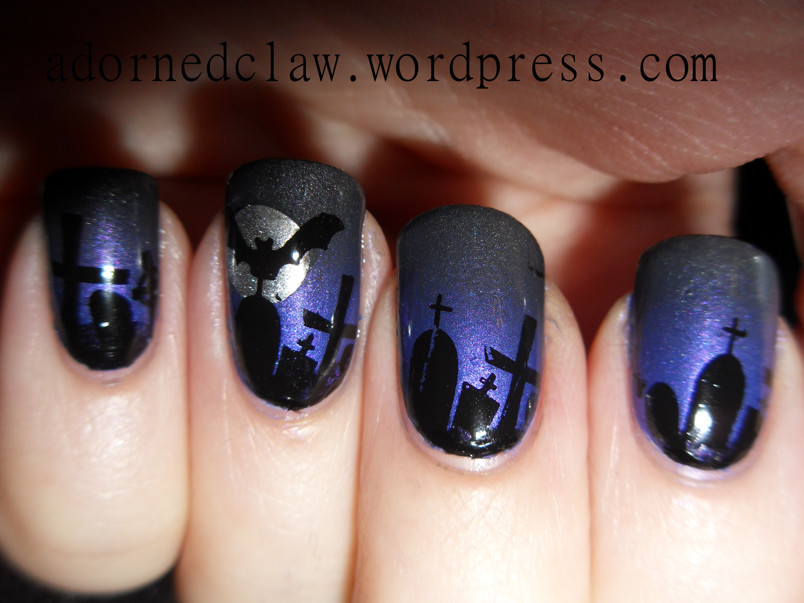 Halloween nail art the adorned claw - Nail art halloween ...