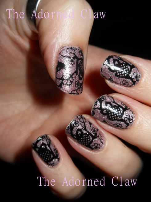 Glittery Owl Nail art