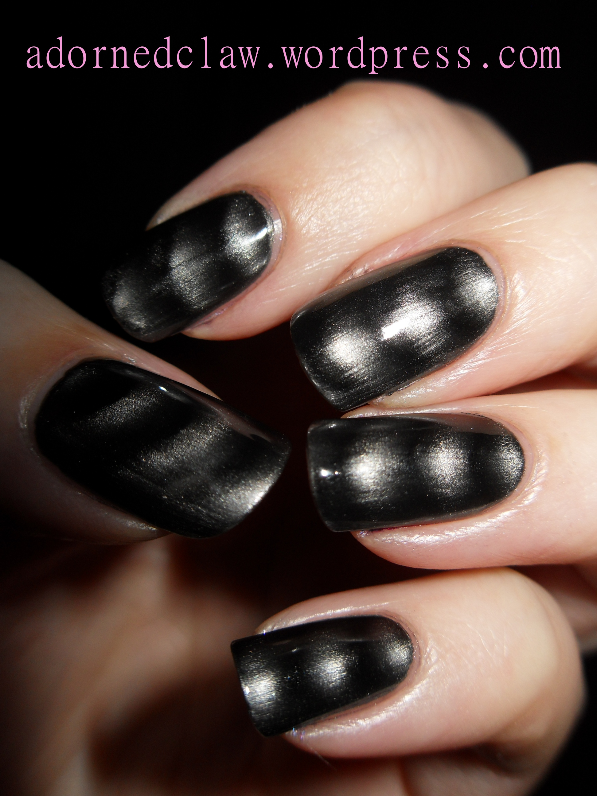 Steel Of The Night Magnetic Polish From Color Club Swatch | The ...