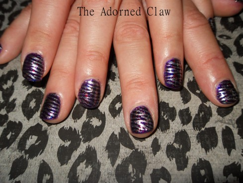 Mad Alice Silver Zebra Nails