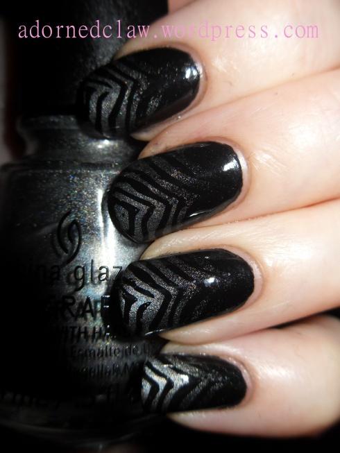 Zebra Gradient Nail Art