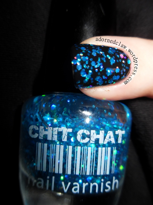 Chit Chat Ariel Blue Holographic Polish