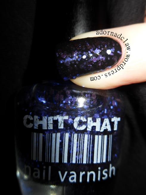 Chit Chat Violet Glitter