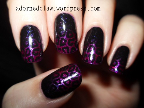 Glitter Leopard Gradient Nails