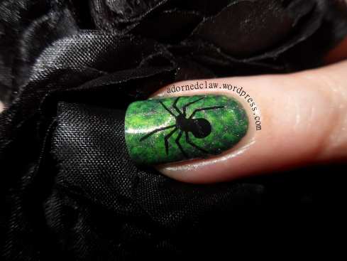 Green Halloween Spider