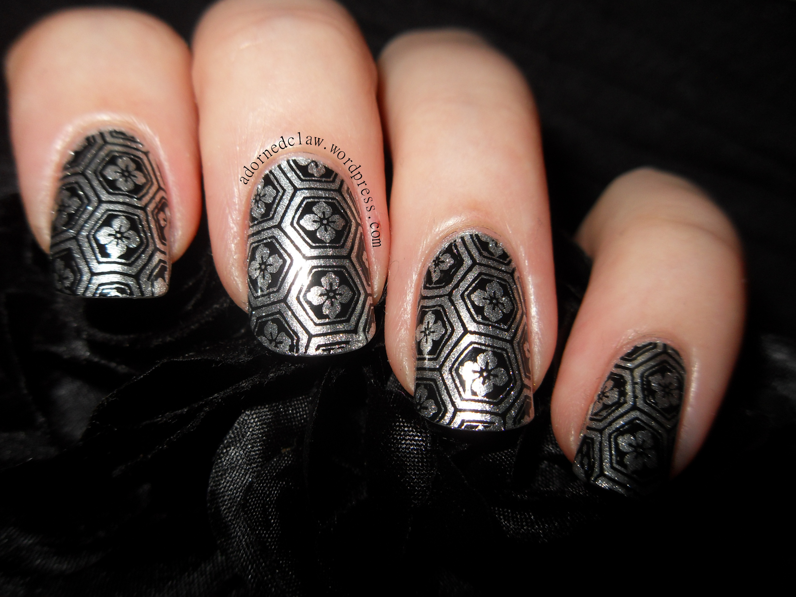 Shiny Silver Nails With Moyou Suki Collection Plate 06 The