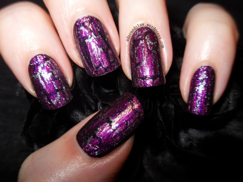 OPI Shatter Layered Nail Art