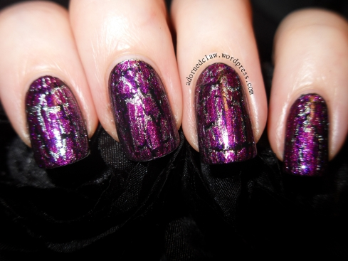 Layered OPI Crackle polish