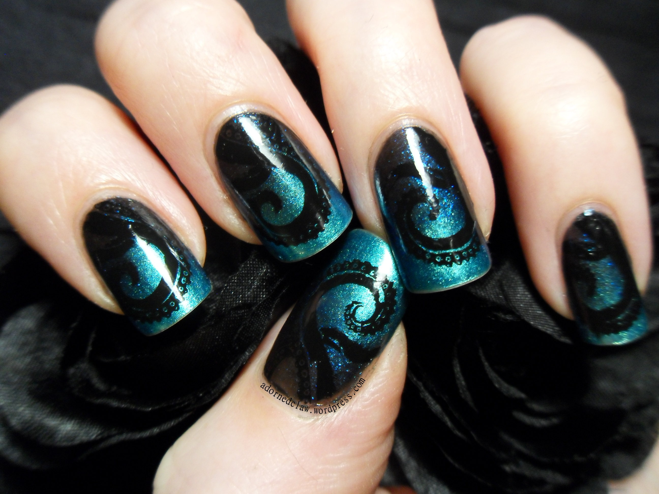 Slightly Steampunk Tentacle Nail Art The Adorned Claw