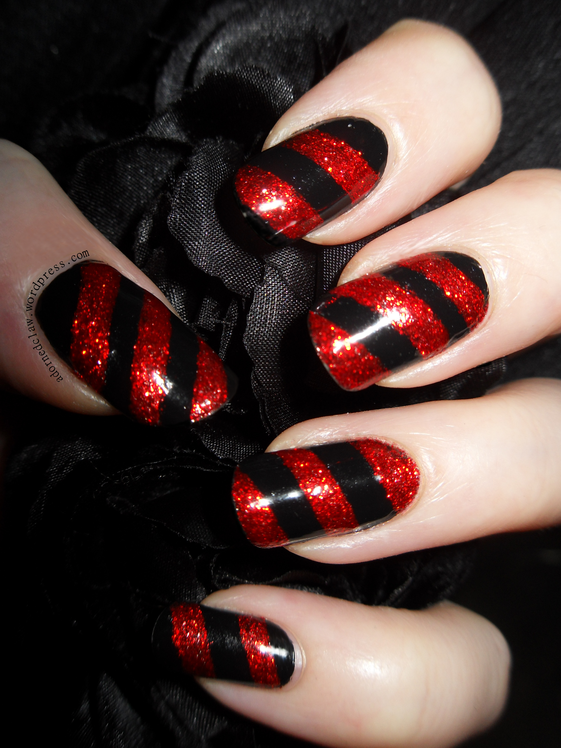 Bah! Humbug. Red And Black Almost Candy Cane Nails! | The ...