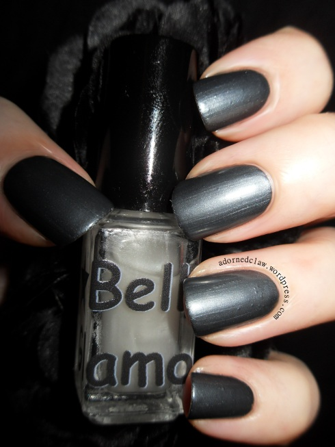 Belle Glamour Matte Topcoat Over Midnight