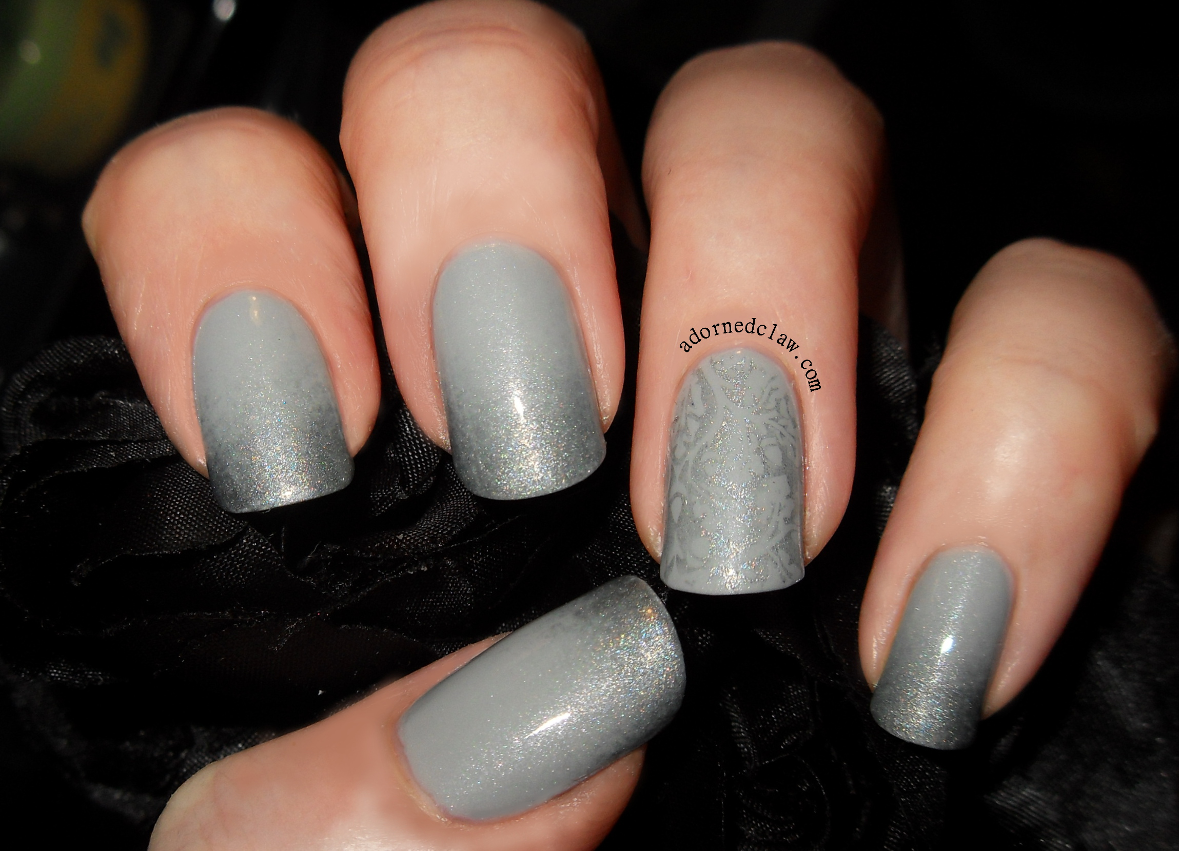 Subtle Silver and Grey Nail Art | The Adorned Claw