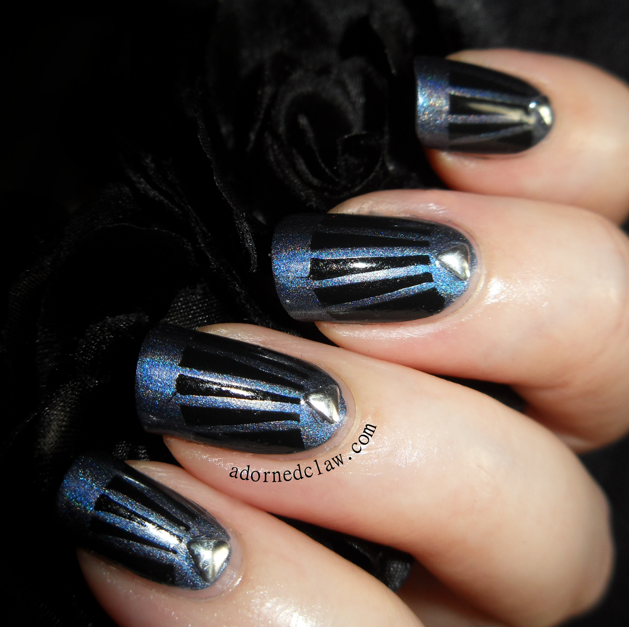 Art Deco Inspired Taped Nails The Adorned Claw