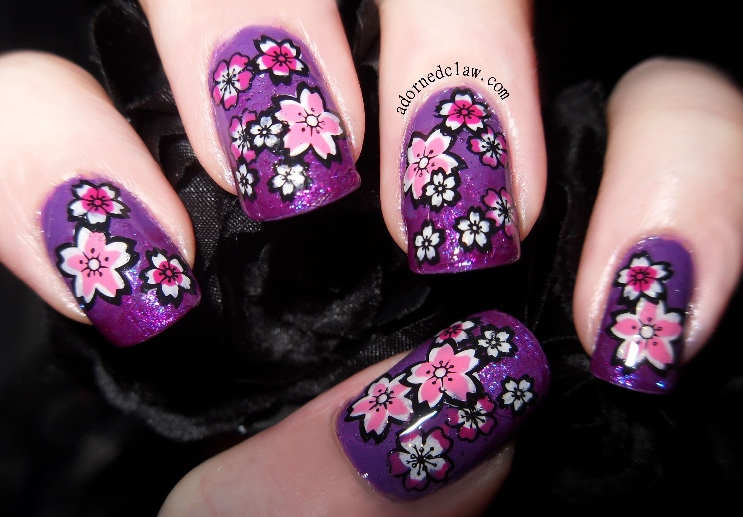 Moyou the adorned claw page 2 pink and purple cherry blossom prinsesfo Choice Image