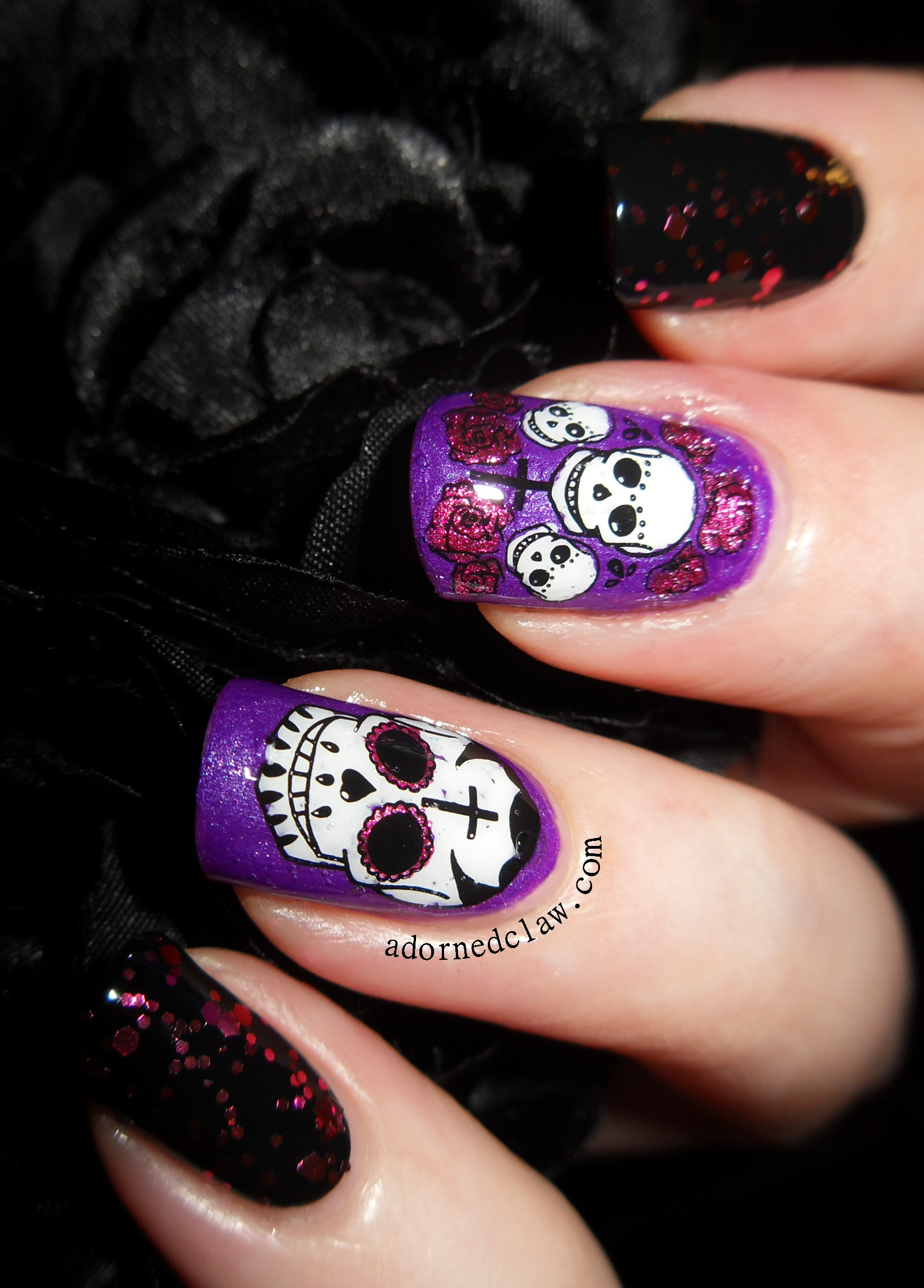 Pink and Purple Sugar Skulls! | The Adorned Claw