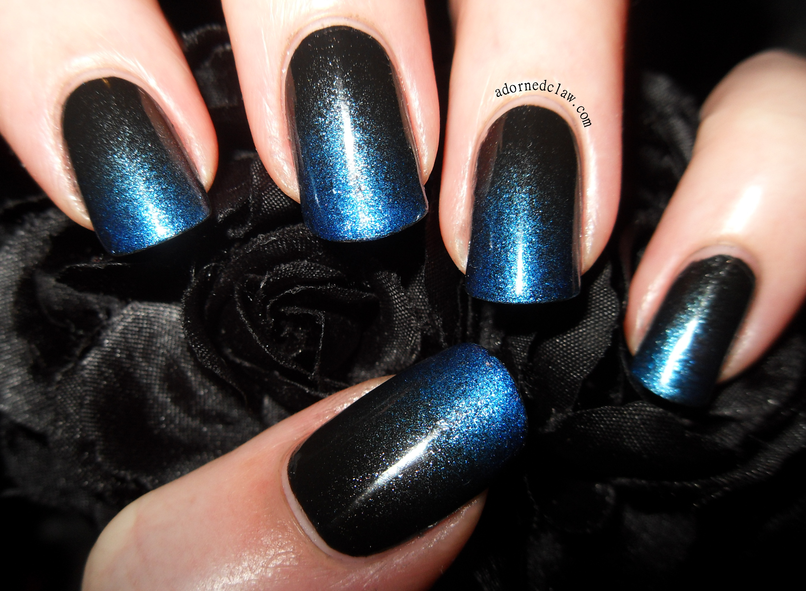 Black and Blue Gradient… Or The Unfinished Nails! | The Adorned Claw