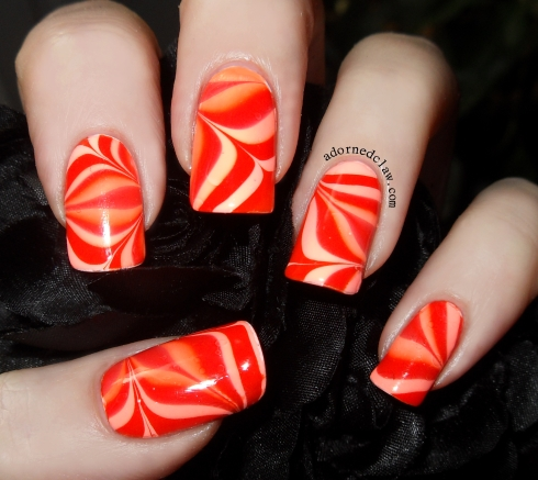 GOT Polish Orange Water Marble