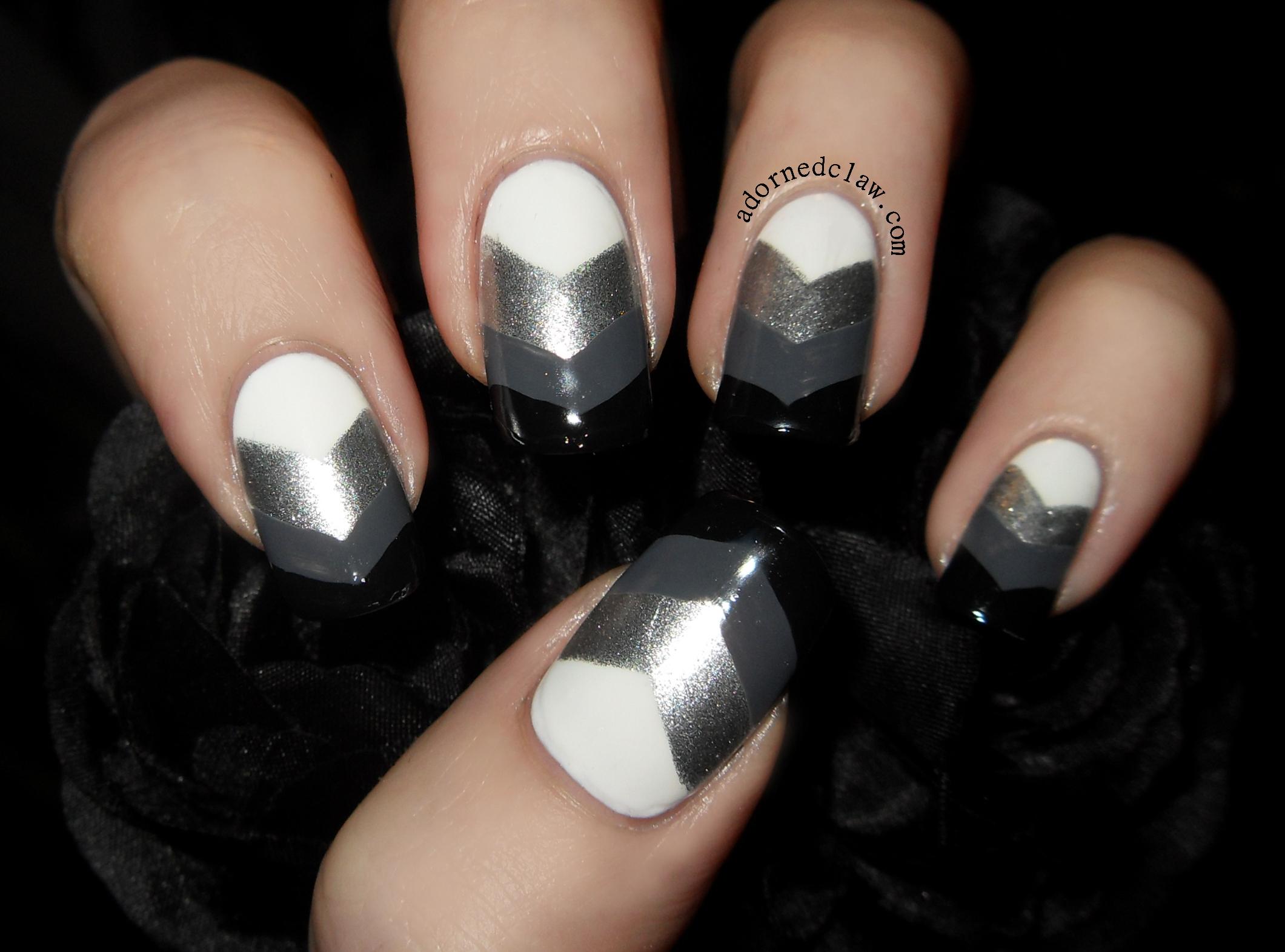 got polish challenge – chevron nails! | the adorned claw