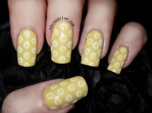 Got Polish Challenge Yellow nail Art