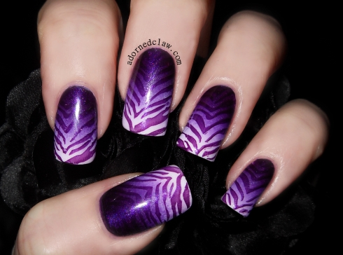 Purple Zebra Gradient