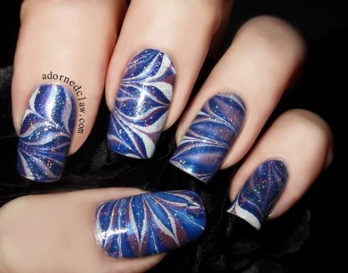 Sparkly Blue Water Marble