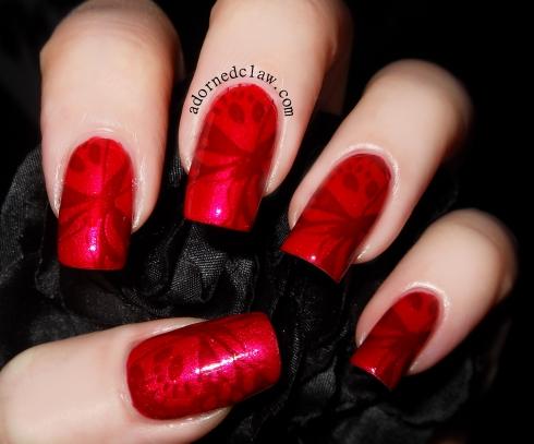 Chanel Rouge Noir Stamped over Sally Hansen Ruby Stilletos