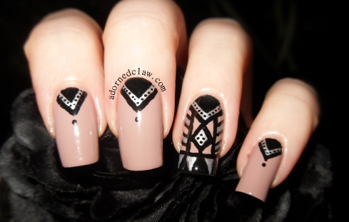 Tribal Print Nail Art