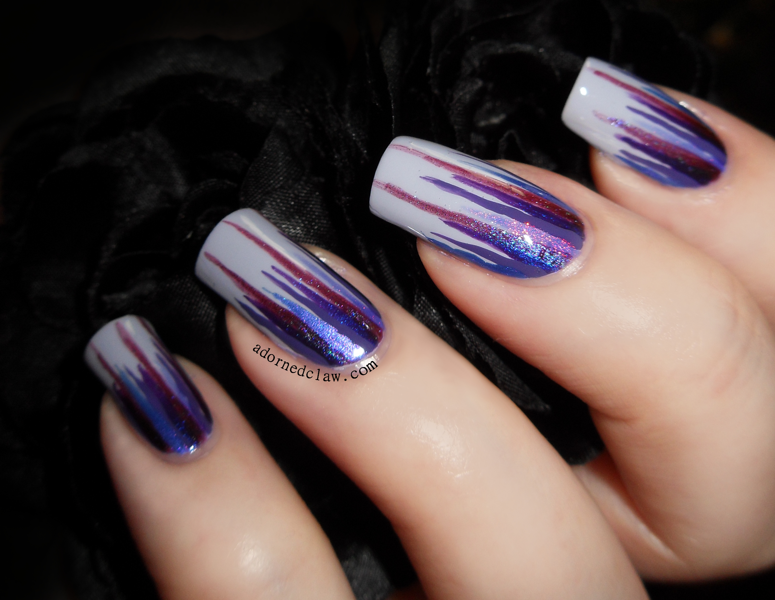 Nail art color violet - Purple Waterfall