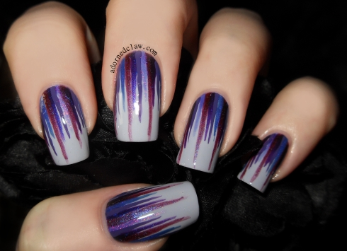 Purple Waterfall Nails