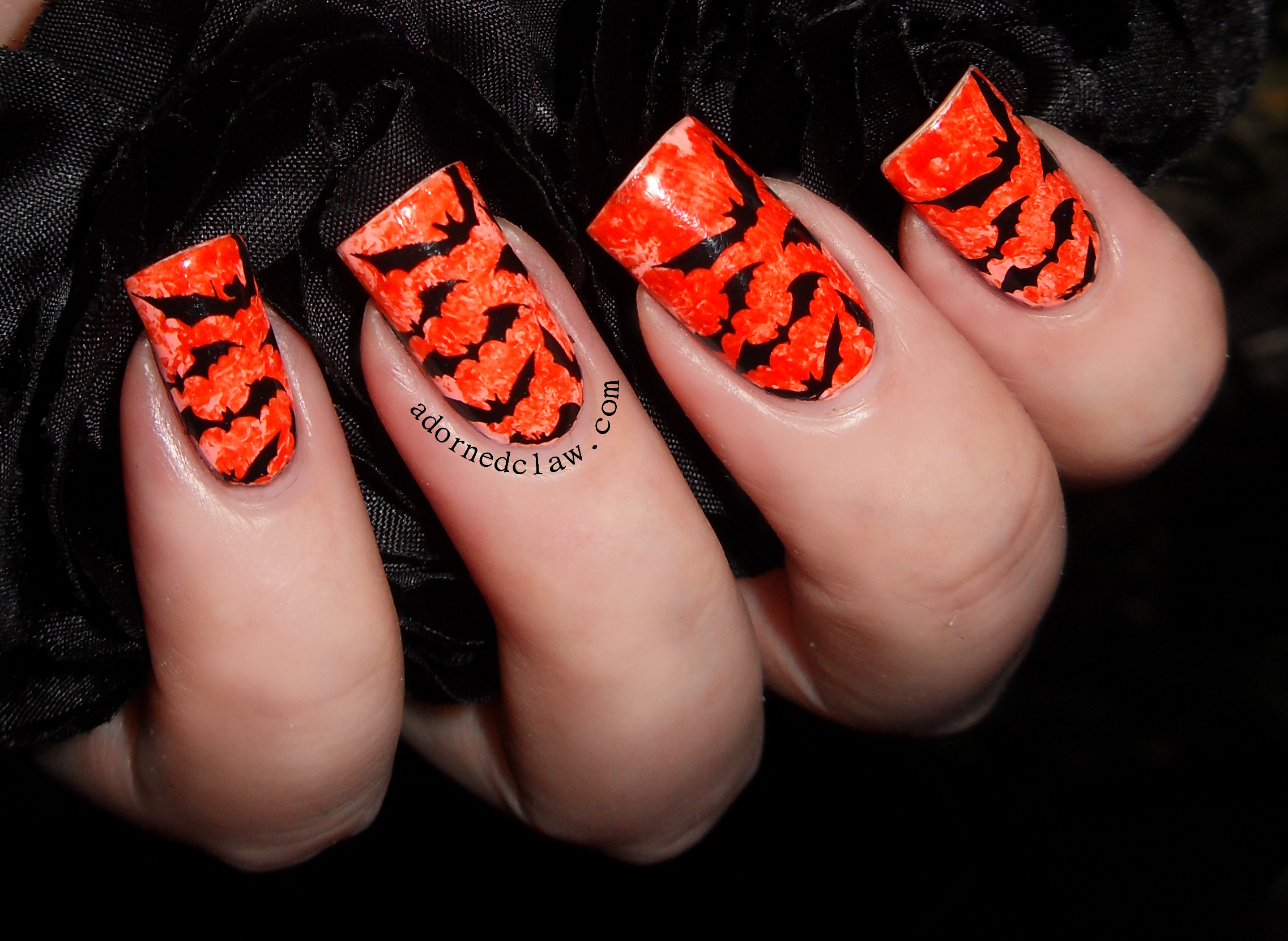 31dc2014 day 2 orange nails the adorned claw china glaze roguish red over color club east austin prinsesfo Gallery