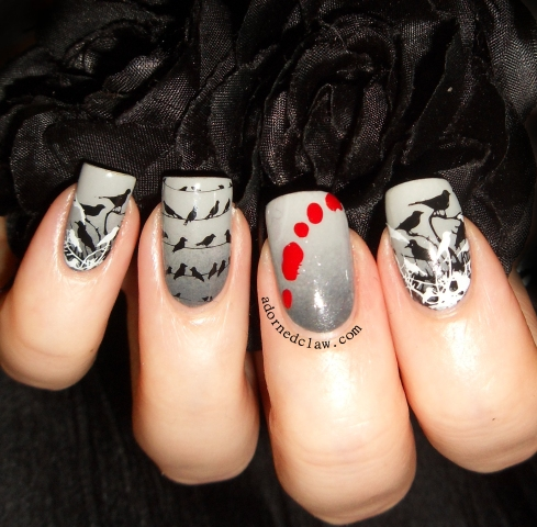 The Birds nail Art