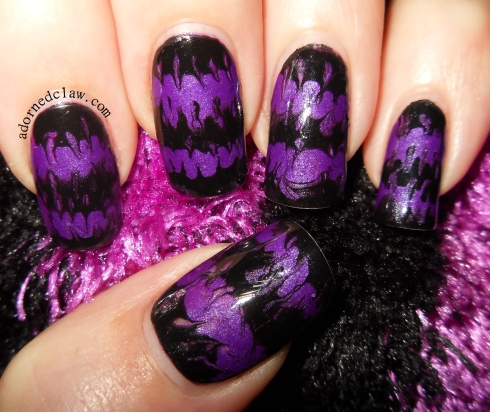 Purple stripe nails
