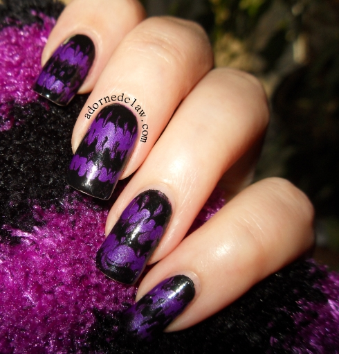 Purple and black stripes