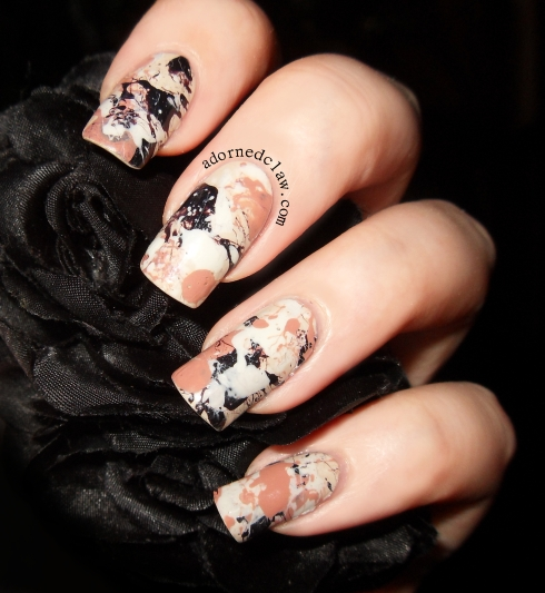 Messy Splatter nails