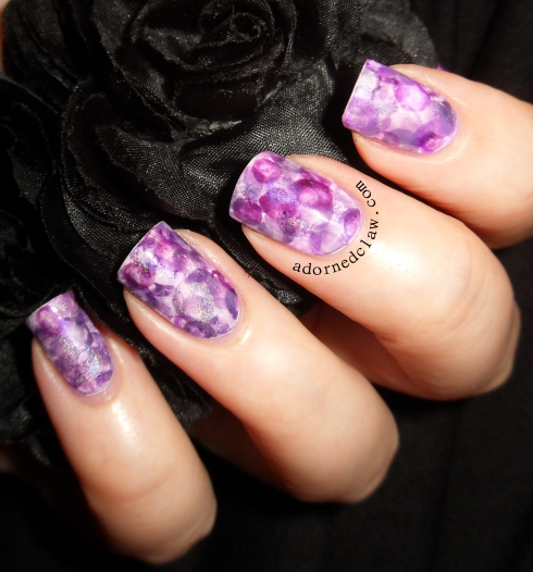 Purple Nimbus Nails