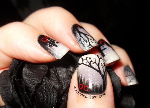 The adorned claw adornedclaw supernatural nailsspooky nails31dc2014 supernatural nail artspooky nail art prinsesfo Image collections