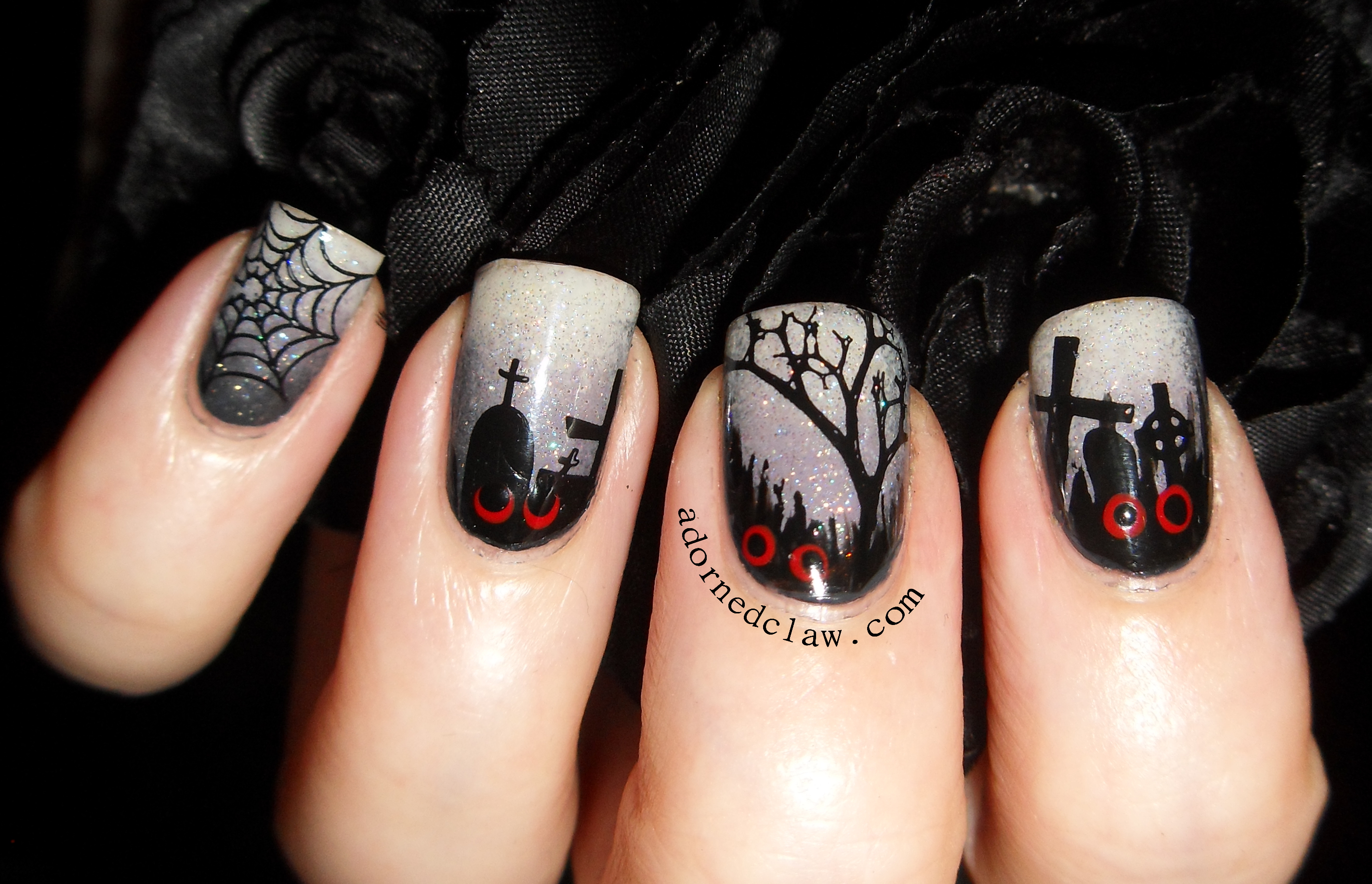 31dc2014 day 29 inspired by the supernatural the adorned claw spooky nail art prinsesfo Image collections
