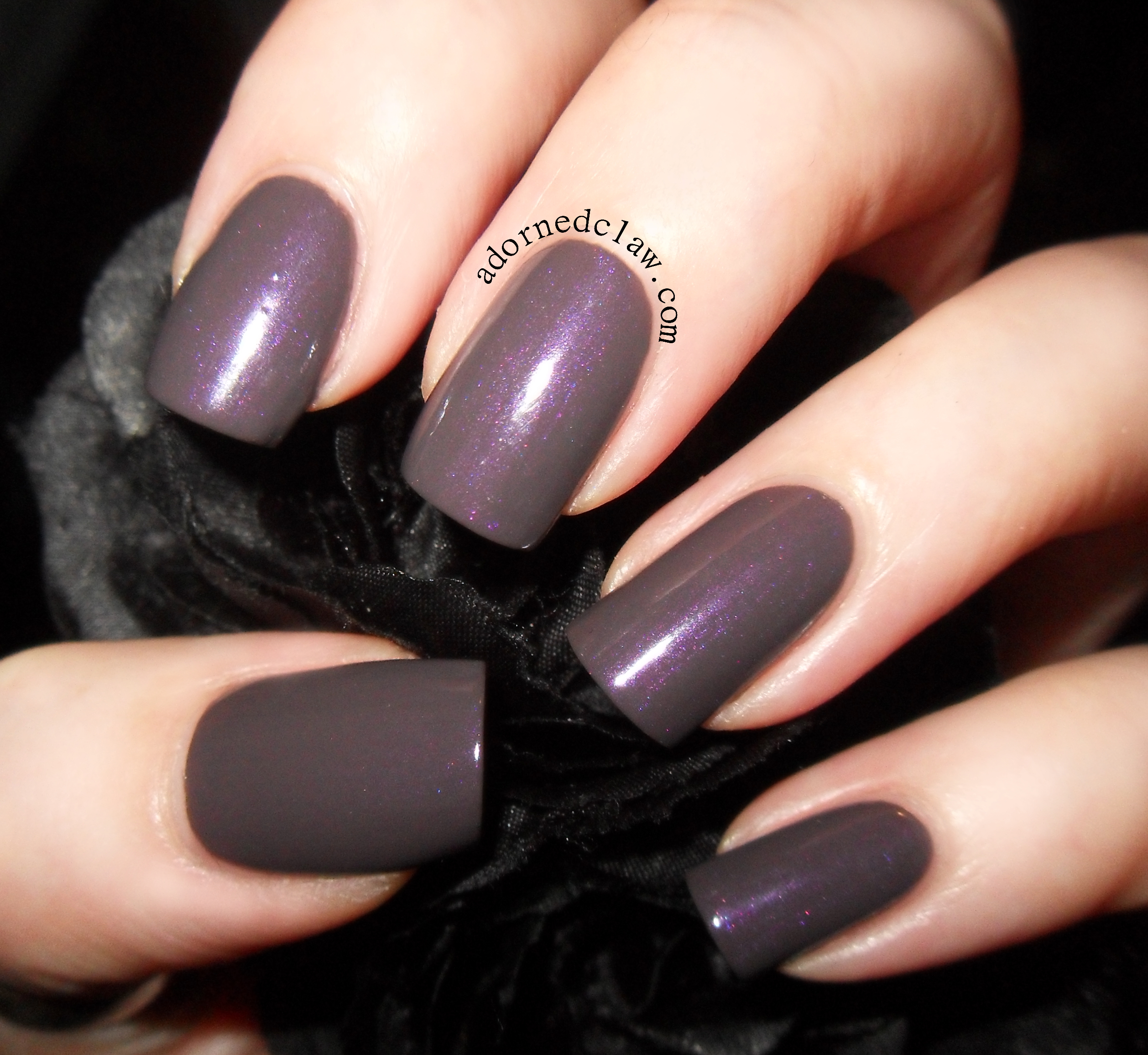 Black Nail Polish Swatch: The Adorned Claw