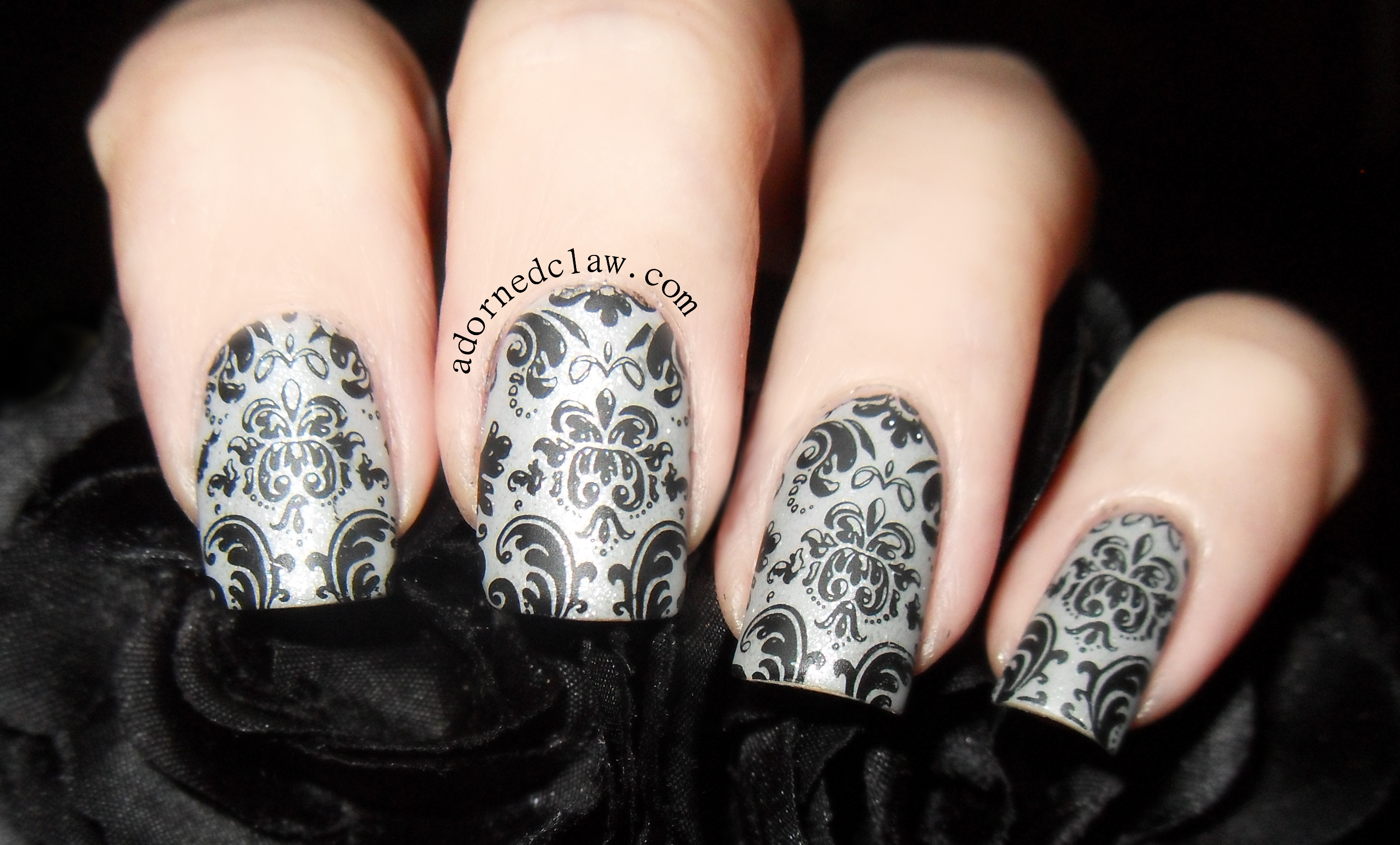 Matte Damask Nails! | The Adorned Claw