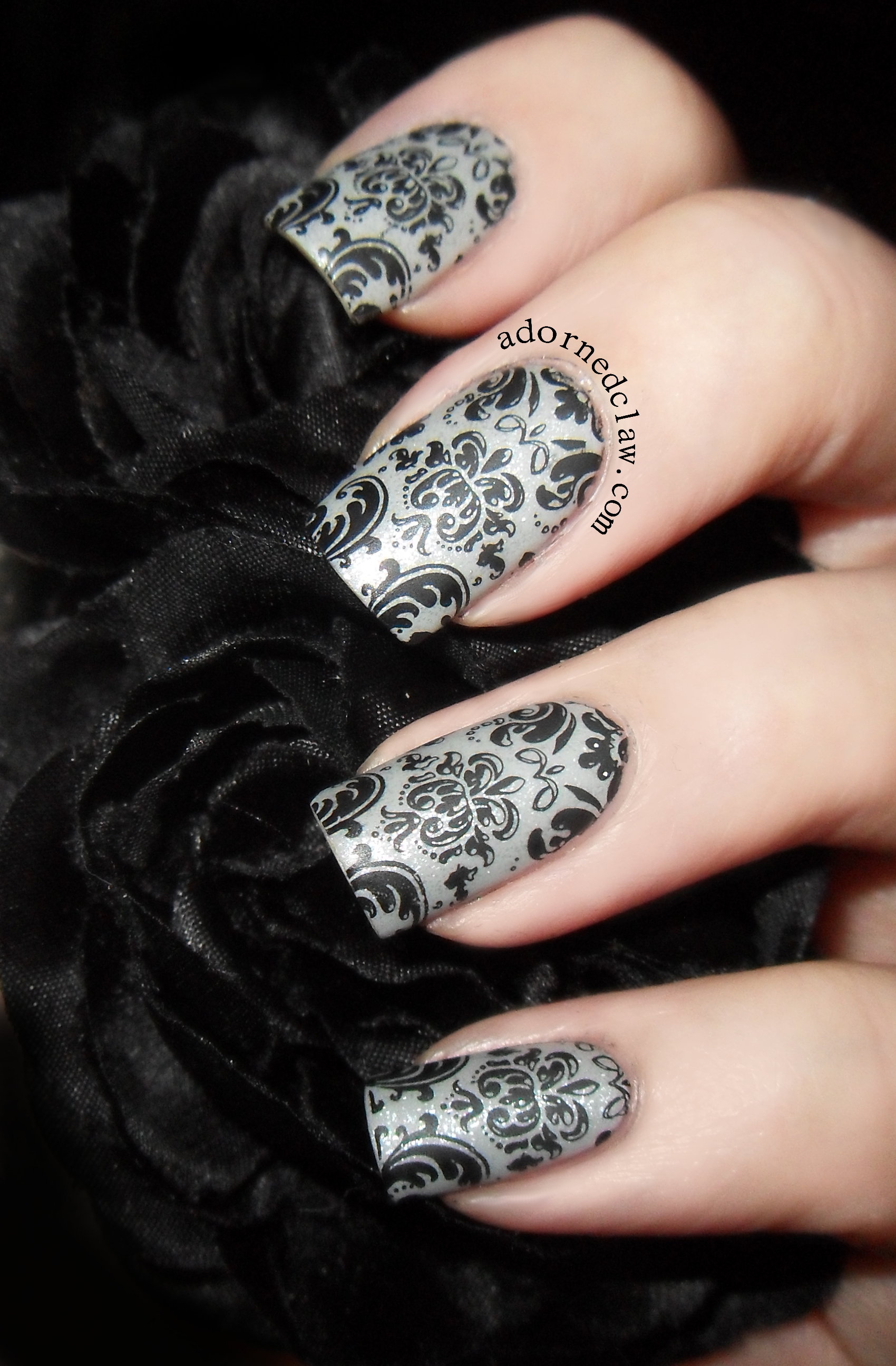 Matte Damask Nails The Adorned Claw