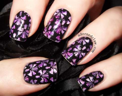 Messy Mansion MM07 over nimbus nail art