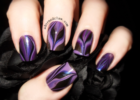 Purple Water Marble