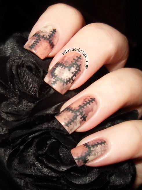 Halloween Skin Suit Nails