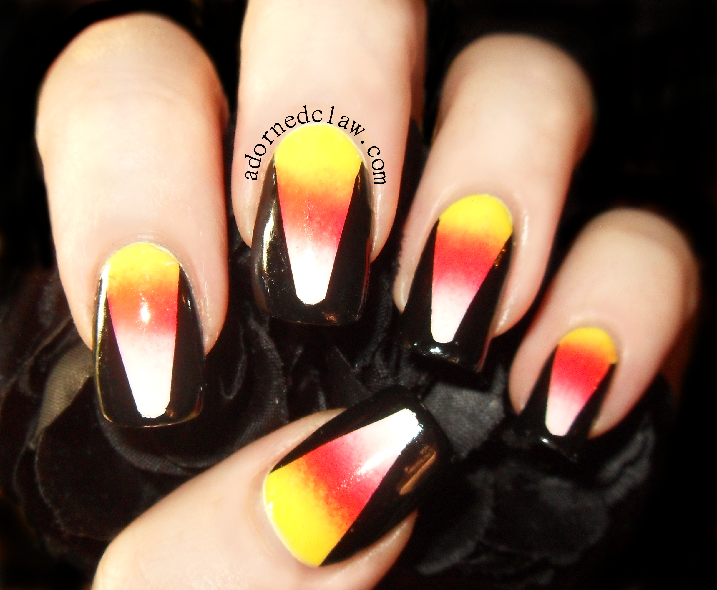 Candy Corn Halloween Nails! | The Adorned Claw