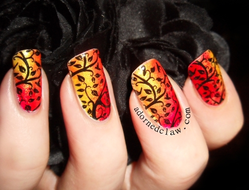 Autumn Leaves Nail Art