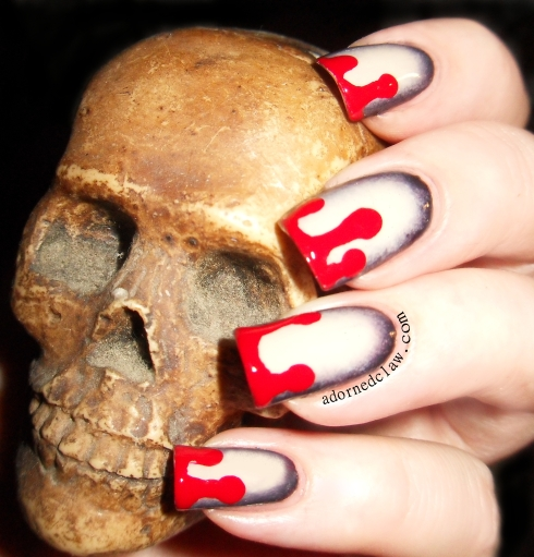 Dripping Blood Nail Art