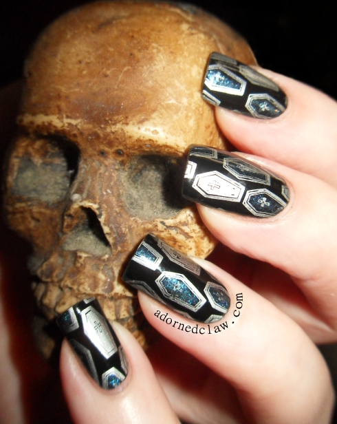 Messy Mansion MM11 Coffin Nail art