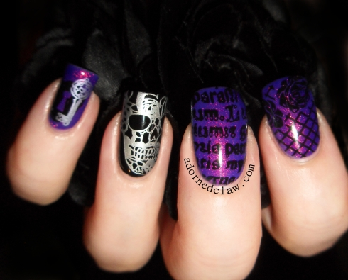 Moyou gothic collection nail art